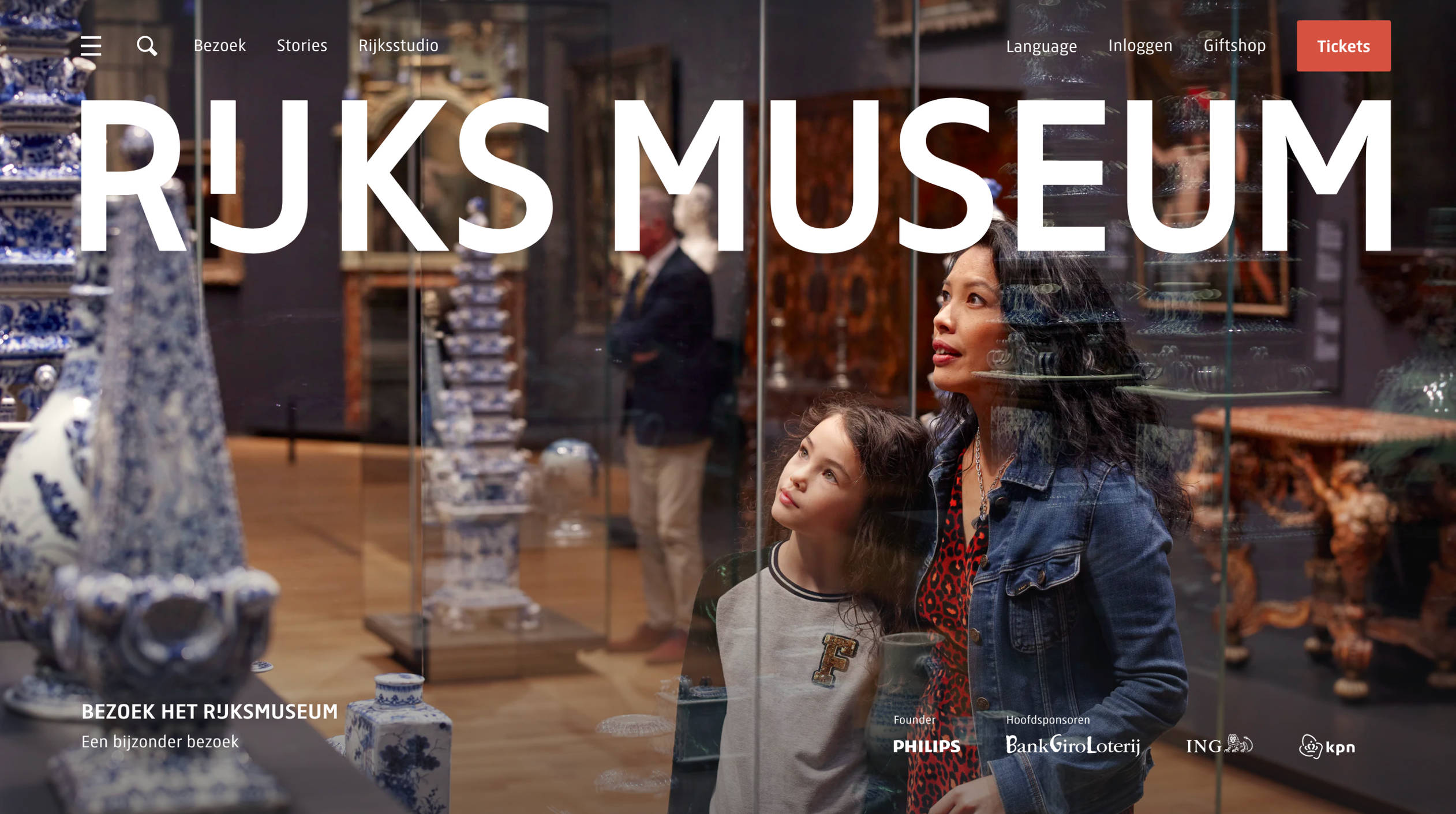 Homepage website Rijksmuseum