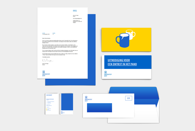 Stationary design voor Ugent door Fabrique