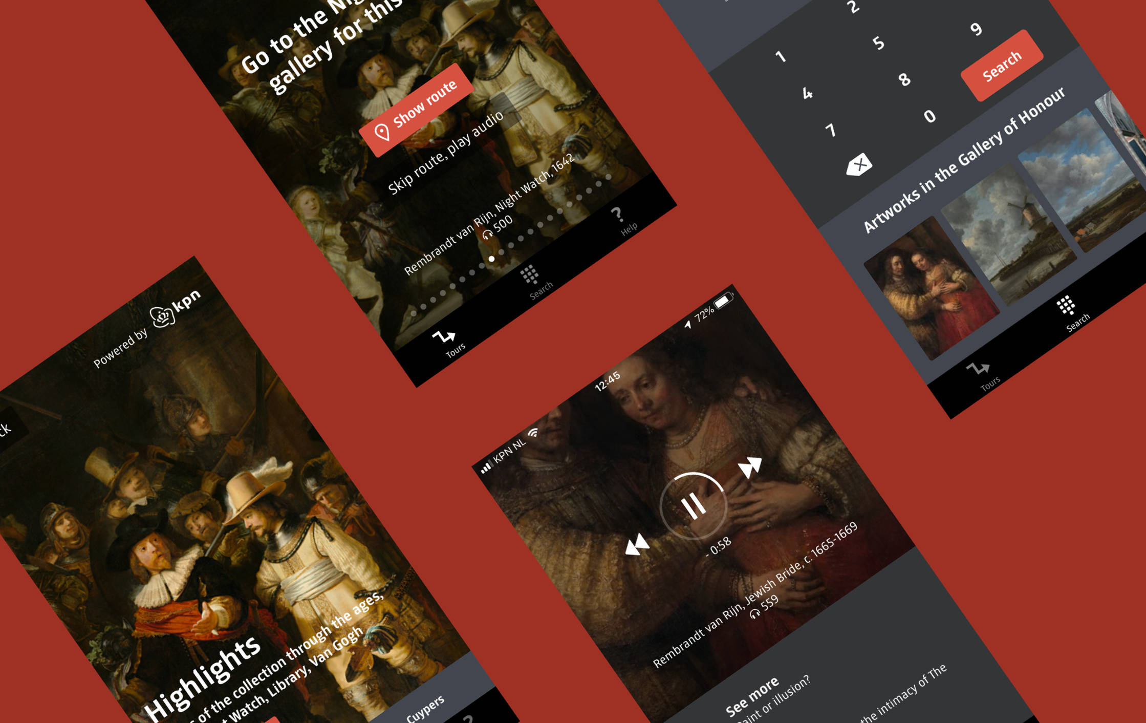 rijksmuseum app screenshots collage