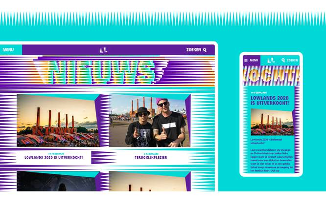 Design Lowlands website Fabrique