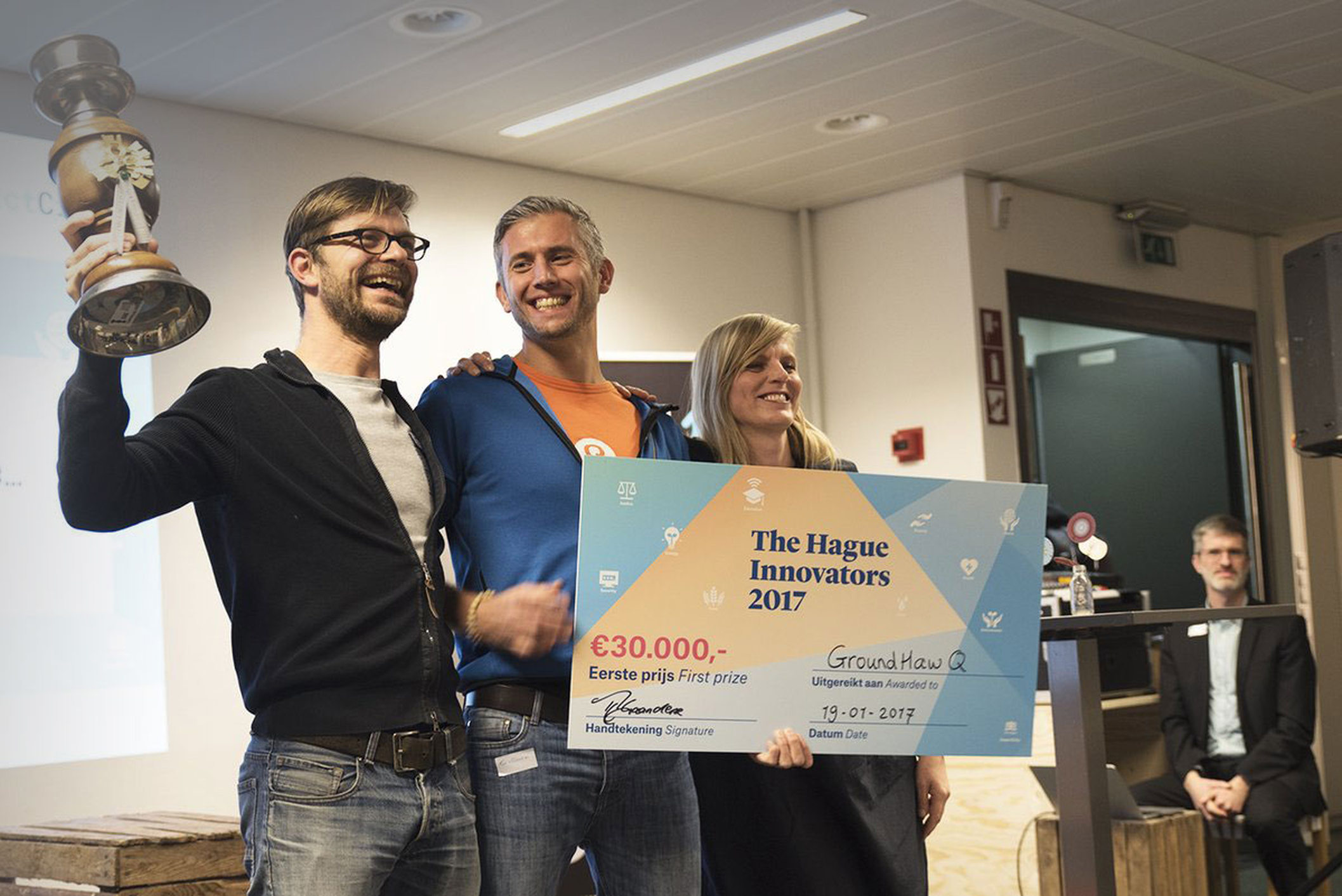 GrounHawQ wint The Hague Innovators 2017