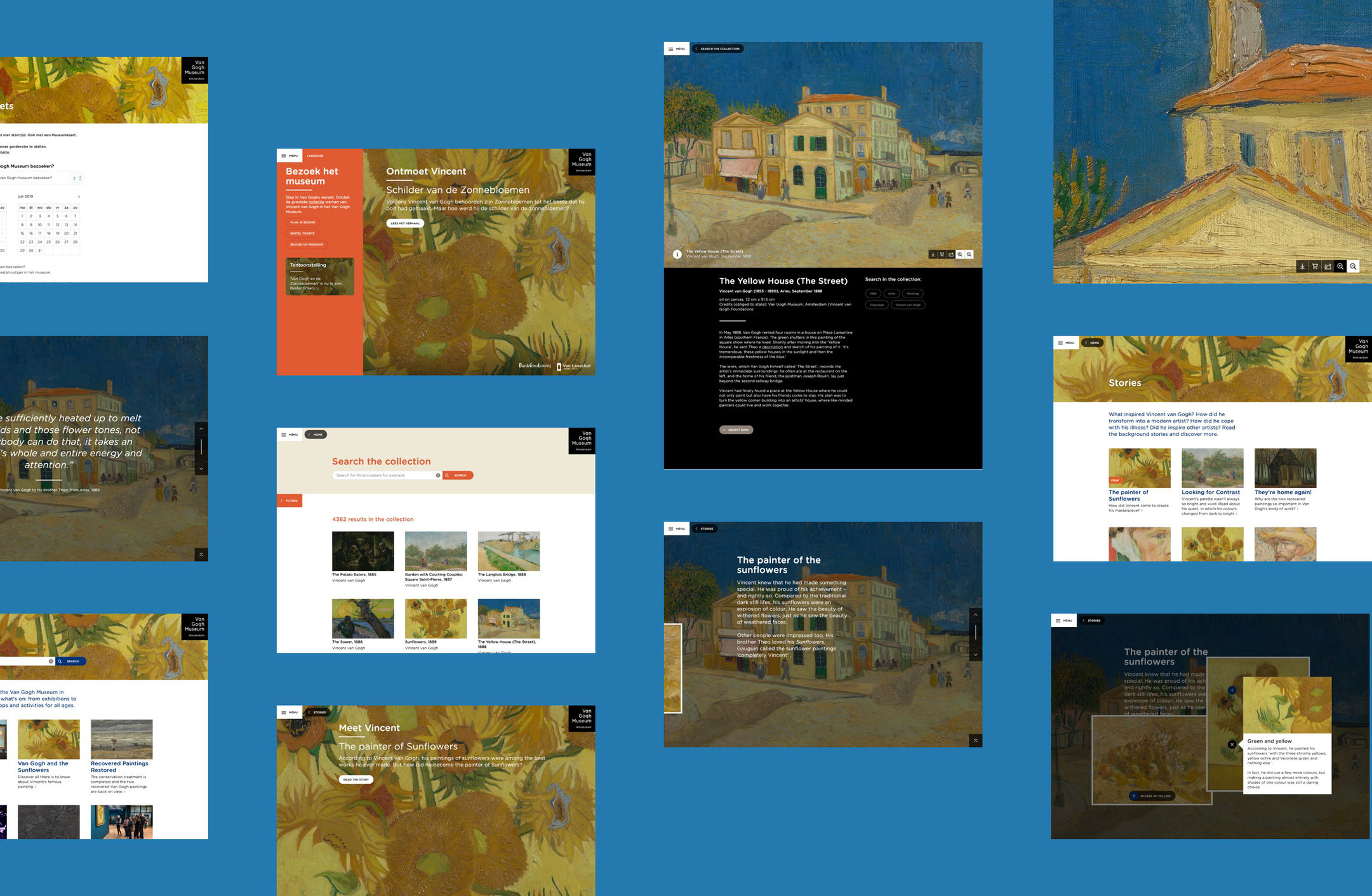 Van Gogh website design